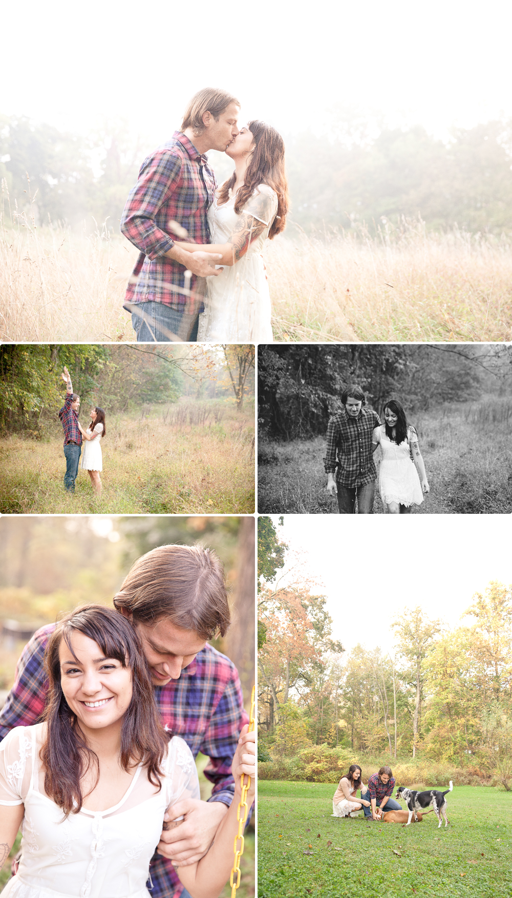 misty engagement session