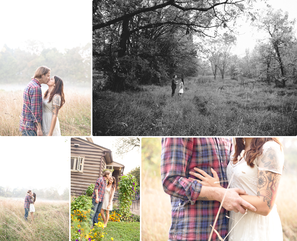backyard farm engagement session