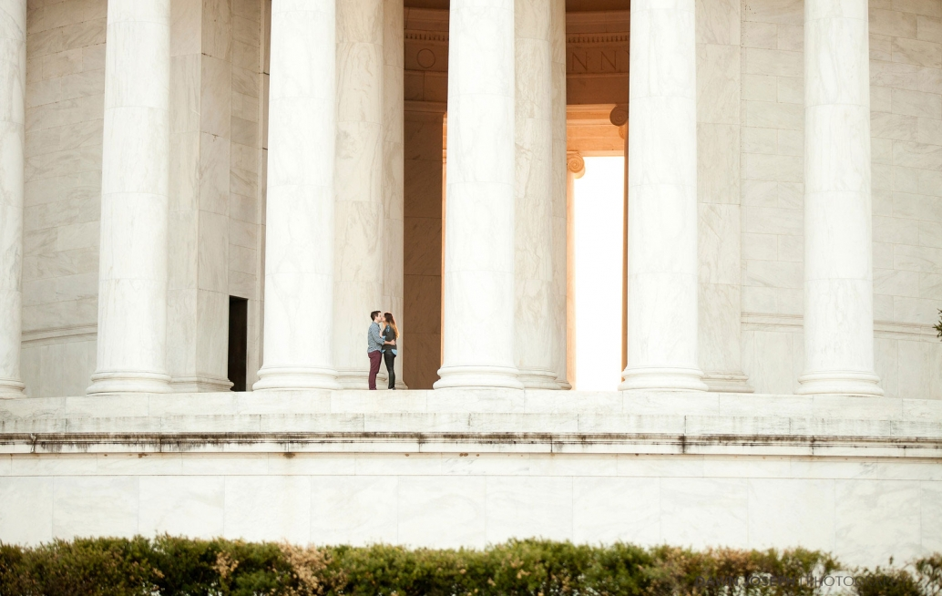 historic district, Jeferson Memorial Washington D.C. Engagement Shoot